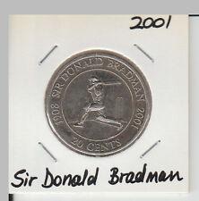 2001 20 Cent Unc Coin - Sir Donald Bradman