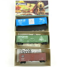 3 Athearn Ho Cars:5278 Rf&P Plug Dr,5272 Evergreen,5231 Atsf Wood Box~Built~T124