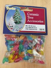 More details for darice ceramic christmas tree bulbs .5-inch 100pkg-small flame-multicolor, smal