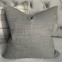 "Designer Cushion Cover 16"" John Lewis & Partners Fabric , Textured Twill Grey"