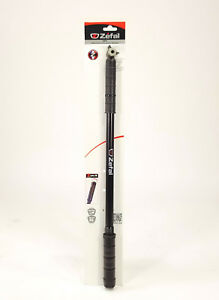 """ZEFAL ROAD BICYCLE PUMP HPX FRAME #4 520 to 570 mm / 20.5 to 22.5"""" BLACK NEW"""
