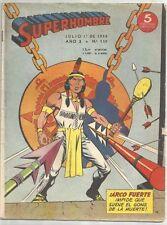 SUPERHOMBRE # 130 - 1952 (Superman) RARE Argentine Printed COMIC - Veloz, etc.