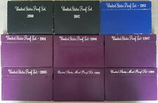 Proof Set Lot - 1980's US Proof Sets (9 Sets)