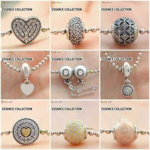925 Sterling Silver FREEDOM COMPASSION Charm Fit Essence Collection Bracelet