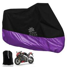 Universal Black/Purple Motocycle Breathable L Weatherproof Cover Cruiser Scooter