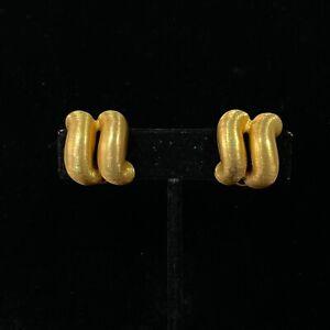 Buccellati San Marco 18k Yellow Gold Earrings