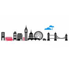 Wall sticker BIG LONDON adesivo parete muro paesaggio Londra Ben Bridge stanza