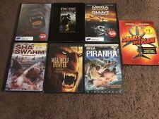7 Creature Horror Movie Dvd Lot King Kong Snakes On A Plane Mega Shark Ogre