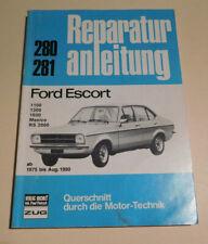 Reparaturanleitung Ford Fiesta Mk 1, 1100 1300 1600 Mexico RS 2000, Bj. 75 - 80