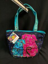 Laurel Burch Dogs Large Canvas Purse Tote Bag New