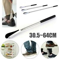 "Professional 25"" Long Adjustable Handle Shoe Horn Stainless Steel Metal Shoehorn"