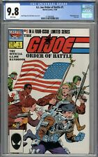 G.I. Joe Order of Battle #1 CGC 9.8 NM/MT WHITE PAGES
