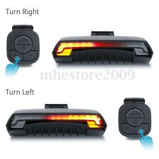 Laser Bicycle Bike Indicator Turn Signal LED Tail Light Wireless Remote Control