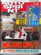 AUTOSPRINT n°11 1992 con inserto Come si Divente Pilota Navigatore  [P69]