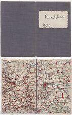 alte Landkarte um 1930 RIESA GROßENHAIN und Umgebung   ( 87004