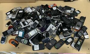 Lot (18lbs) Mixed Brands Cell Phones for Scrap Gold Recovery *As-Is*