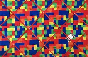SALE Colourful Building Blocks Lego Crafted Fabric Notice Pin Memo Board 90X60cm