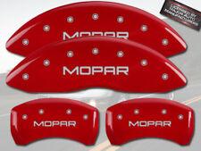 "2010 Dodge Ram 2500 3500 Front + Rear Red MGP Brake Disc Caliper Covers ""Mopar"""
