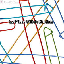 12 Piece Stitch Holder Pins - 6 Sizes - Knitting, Crochet, Embroidery, Quilting