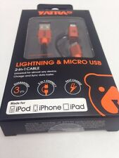 NEW OEM iPhone 6 5 S ANDROID LIGHTNING Micro USB Charger Cable  ORIGINAL YATRA 1