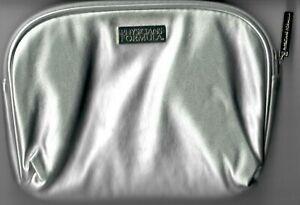 Physicians Formula Makeup Silver Medium/Large Travel Zipper Cosmetic Bag Tote