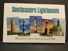 2003 Southeastern Lighthouses Prepaid Postal Cards Booklet of 20 Sku255