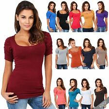 Scoop Neck Party Stretch Other Tops for Women