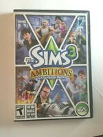 THE SIMS 3 AMBITIONS EXPANSION PACK Windows Mac DVD ROM 2010