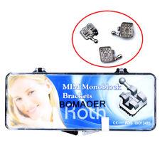10XDental Orthodontics Brackets MIM Monoblock Mini Roth 0.022 Brace 3 4 5 hooks