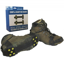 Quik Solve Snow Ice Traction Shoe Boot Cleats - Walking Grip Spikes