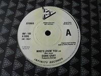 """DOBIE GRAY...WHO'S LOVIN' YOU...UK PRESSING SOUL FUNK 7"""" 45 PROMO COPY EX STOCK"""