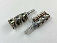 2 x 12mm A50K 50K Audio Taper Potentiometer 6-Gang 25mm Knurled Shaft