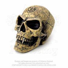 Alchemy of England Lifesized Omega Alchemist Skull, Carved Symbols Occult Magick