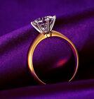 Wedding Ring 1.0 CT Round Solitaire Engagement Diamond 14k Yellow Gold 5 6 7 8