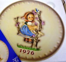 Mib Mj Hummel Annual Plate 1976 In Bas Relief Apple Tree Girl Goebel