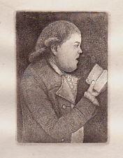 JOHN KAY Original Antique Etching. Mr. John Campbell, Precentor, 1805