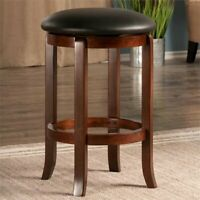 Bar Stool Kitchen Counter Swivel Upholstered Pub Bistro Chair Dining Room Wooden