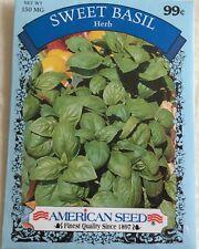 """Vegetable Seeds Gardening Planting """" Sweet Basil� Herb American Seeds"""