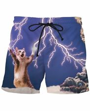 Thundercat Swim Trunks funny fashion Polo cats Kitten Surf Beach Board Shorts