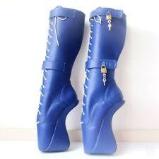 Super High Hoof Heel Wedge Heelless Sole Sexy Lockable Women Ankle Ballet Boots