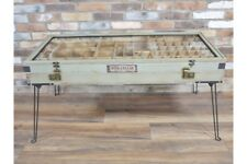 Vintage Industrial Style Coffee Table With Hairpin Legs - Funky Storage Trunk