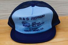 Rare Vtg R&S Repair Great Bend Ks Kansas Trucking Mesh Trucker Snapback Hat Cap