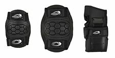 Osprey skate cycle knee elbow wrist protection pads set for kids - black, medium