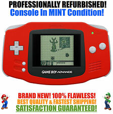 *NEW GLASS SCREEN* Nintendo Game Boy Advance GBA Red System MINT NEW
