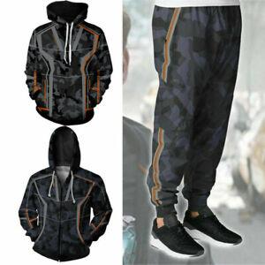 IRON MAN Tony Stark Hooded Avengers Cosplay Hoodie Sweat Pants Coat Jacket Suit