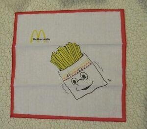 "McDonald's Happy Meal Gang FRIES Handkerchief Hankie 10 1/4"" square"