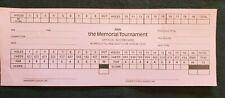2000 Memorial Golf Tournament player scorecard, unused