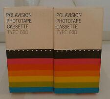 2 Polaroid Polavision Phototape Cassette Type Film 608 Land Player Camera 1979