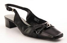 New ETIENNE AIGNER Leather Women Slingback Low Heel Pump Sandal Shoe Sz 8 M