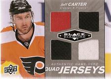 JEFF CARTER 2010-11 BLACK DIAMOND QUAD GAME USED 3 COLOR JERSEYS